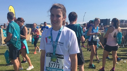 Going for gold: Melissa's Great North Run raises funds for Roundabout
