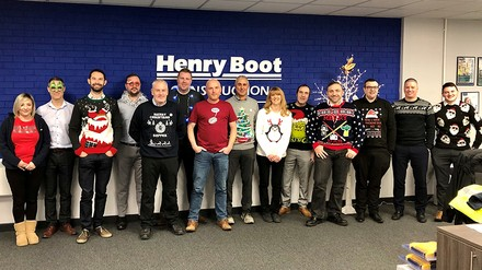 Doing our bit in a Christmas knit