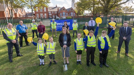Ground-breaking ceremony at Withernsea Primary School