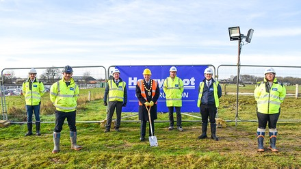 Ground-breaking ceremony for new operational services depot in Lincolnshire