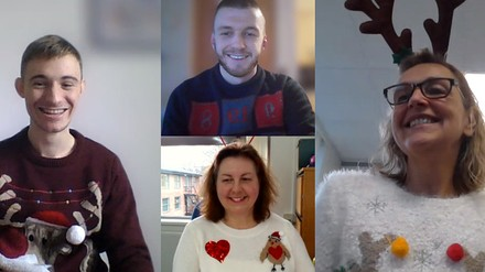 Celebrating Christmas jumper day with Paces Sheffield