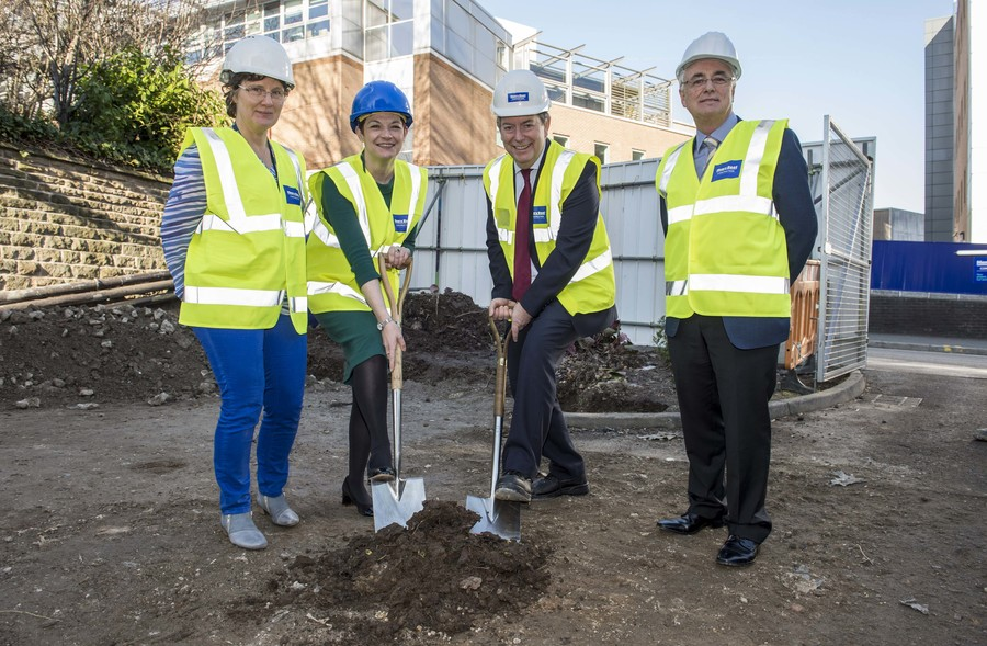 Sheffield Teaching Hospitals groundbreaking ceremony for the new walkway to link Jessops Wing and the Weston Park Hospital Buildings