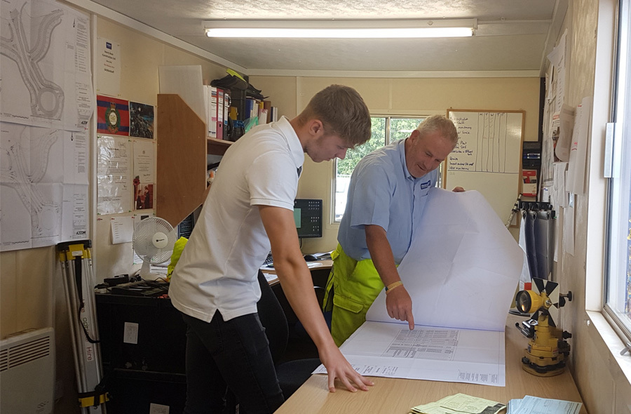 Work experience student Reece Saddington enjoyed completing work experience on site.
