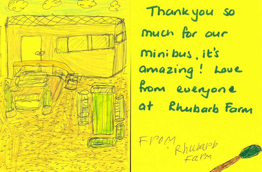 Thank you card from Rhubarb Farm