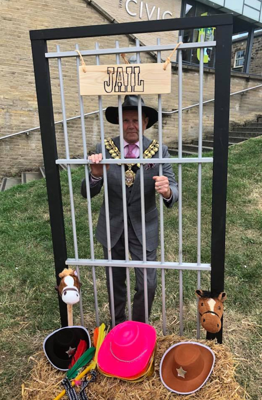 "Councillor Steve Green Mayor of Barnsley locked in ""jail"""