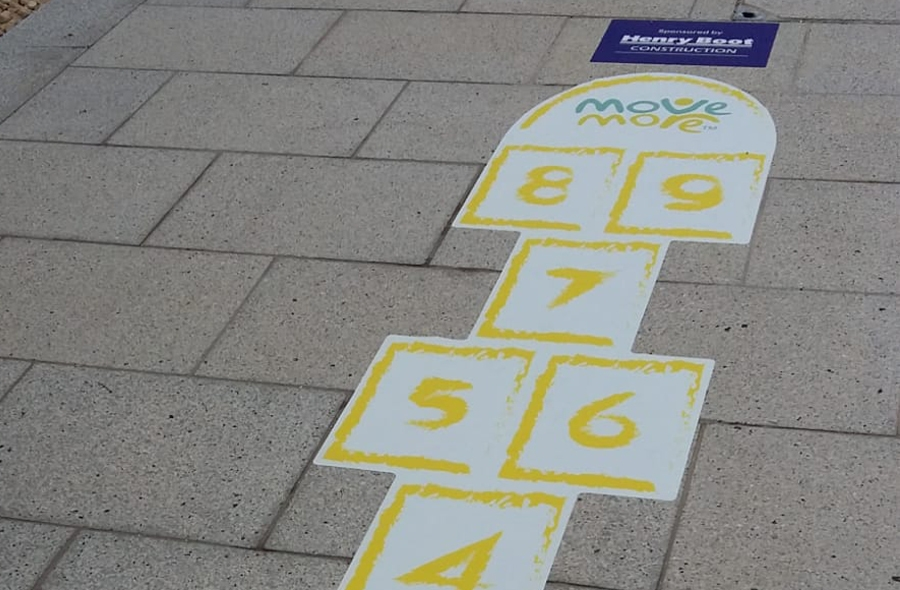 Fitted hopscotch at the Olympic Legacy Park
