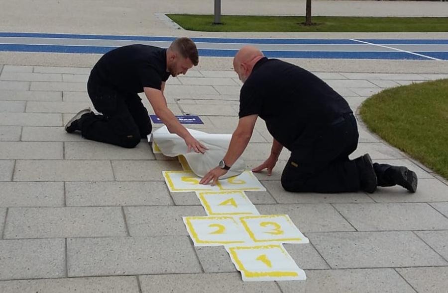 Hopscotch being fitting at the Olympic Legacy Park
