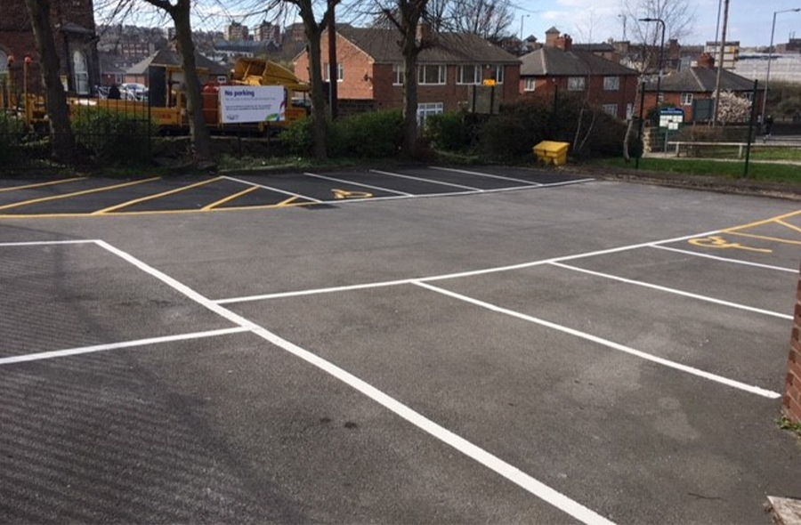 The newly improved car park makes it safer space and suitable for disabled access.