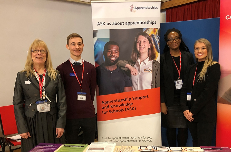 Bradley attends lots of career events promoting apprenticeships and construction