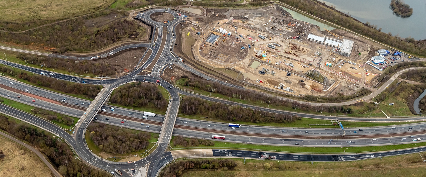 Raising the level of the site enabled a new dual carriageway and roundabout.