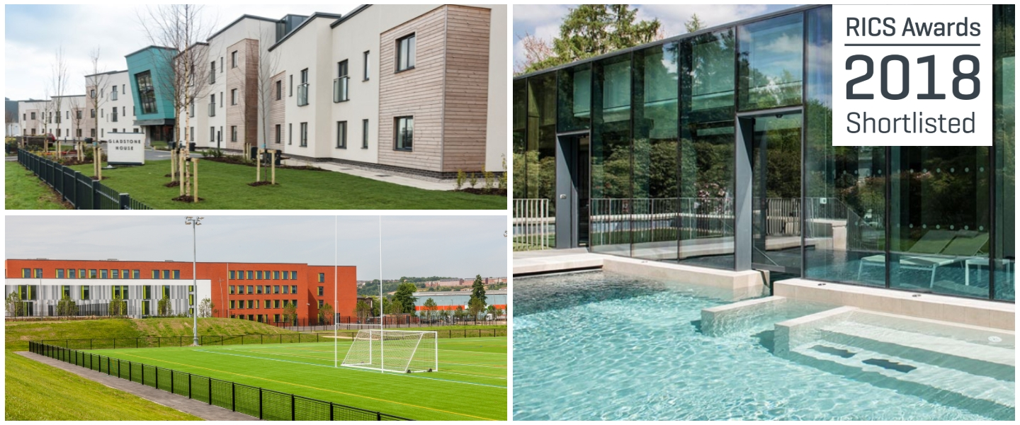 Our RICS shortlisted projects: Rudding Park Spa, Olympic Legacy Park, Sheffield and Gladstone House, Newark