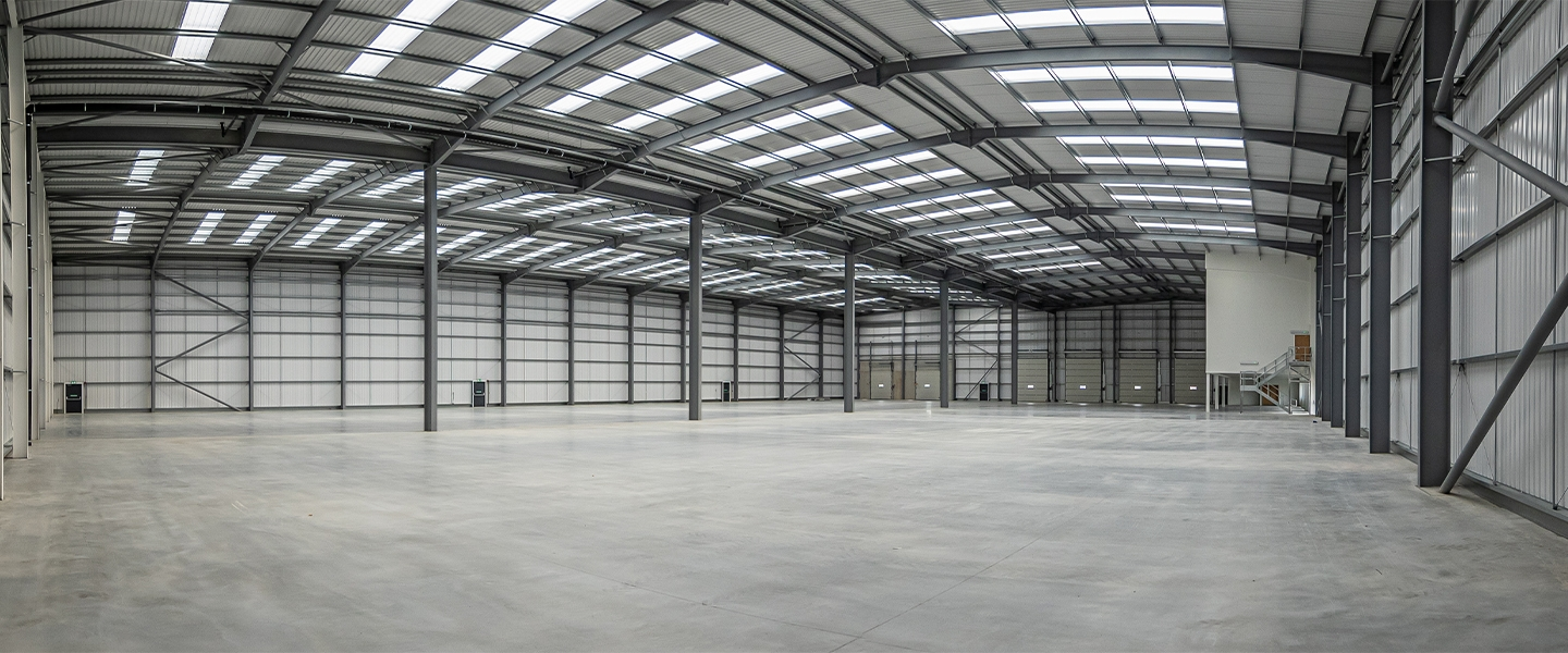 The completed warehouse is ready for business